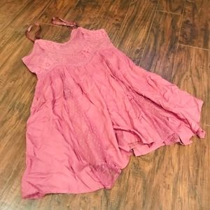 American Eagle mauve lace skater dress textured